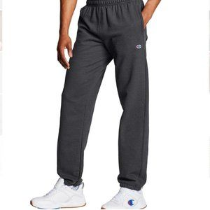 Champion Grey Powerblend Relaxed Elastic Bottom Pants Sweatpants Size Large NWT